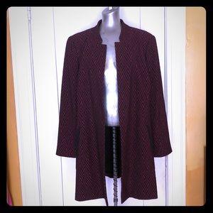 Jones Studio Long blazer plus size 1X. Burgundy